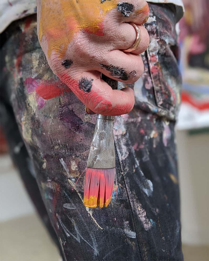 Aidan Weichard - Australian Artist - Original Mixed Media Abstract Colourful  Paintings