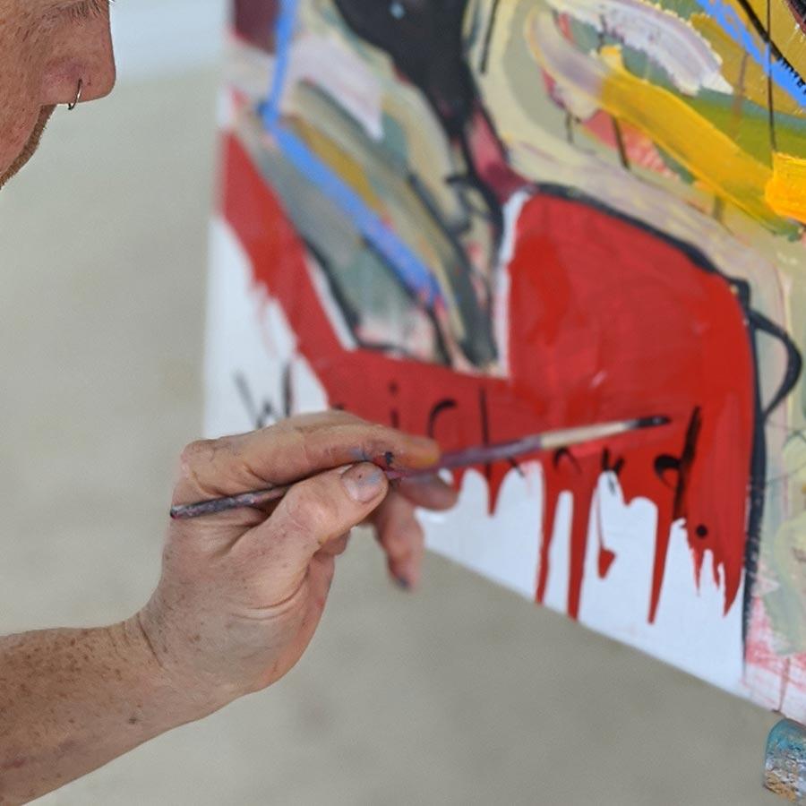 Aidan Weichard - Australian Artist - Original Mixed Media Oil Spray Paint  Modern Art