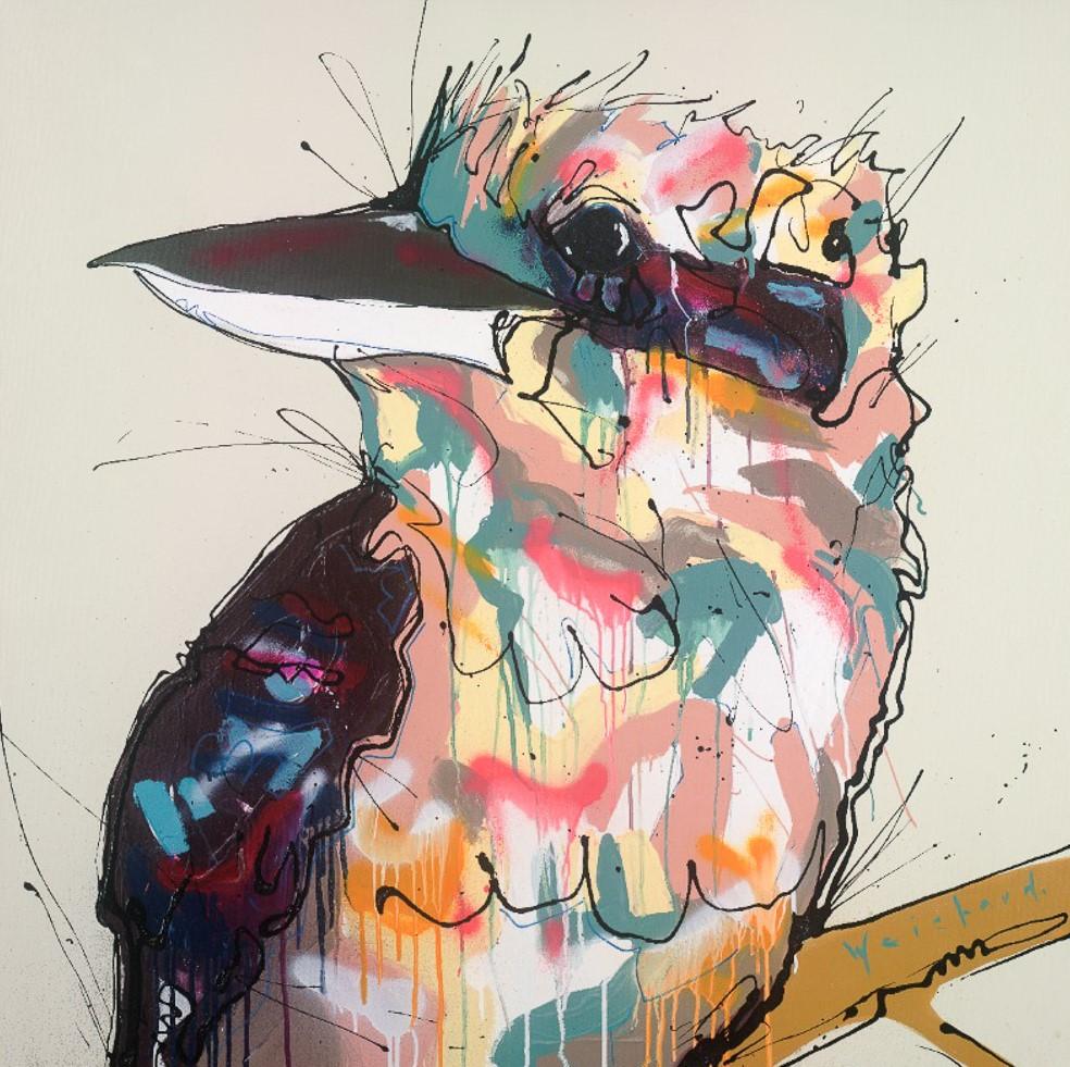 Noosa Native 2 - Limited Edition Kookaburra Bird Print - Aidan Weichard - Native Bird Art