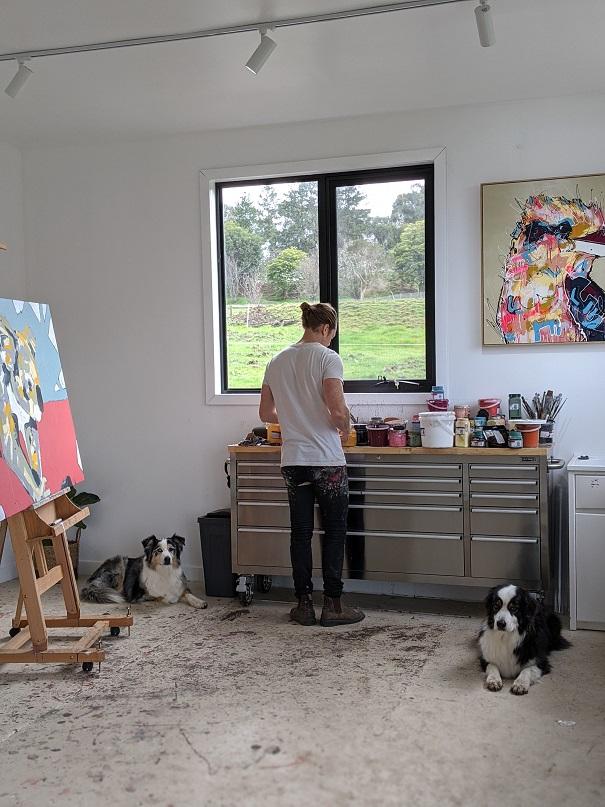 Aidan Weichard - Australian Artist - Working Art Studio