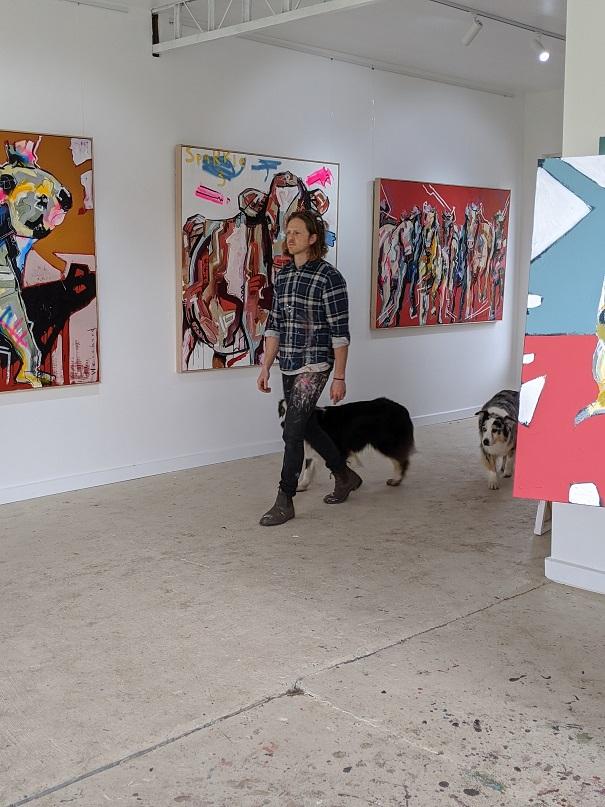 Aidan Weichard - Australian Artist - Abstract Native Australian Art Gallery