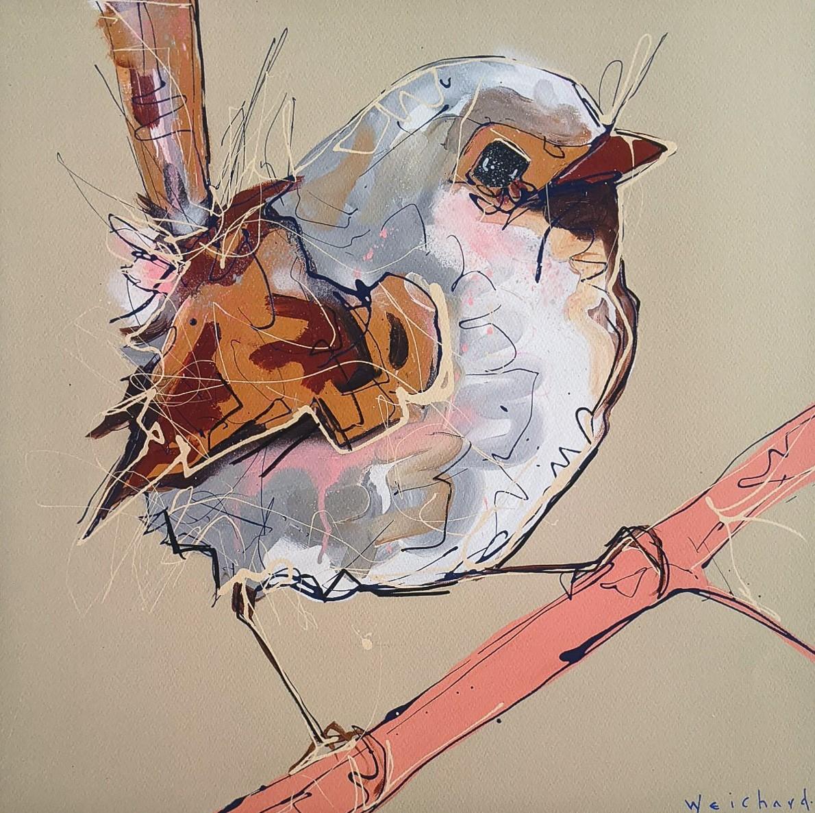 Crimson View - Limited Edition Wren Bird Print - Aidan Weichard - Native Bird Art