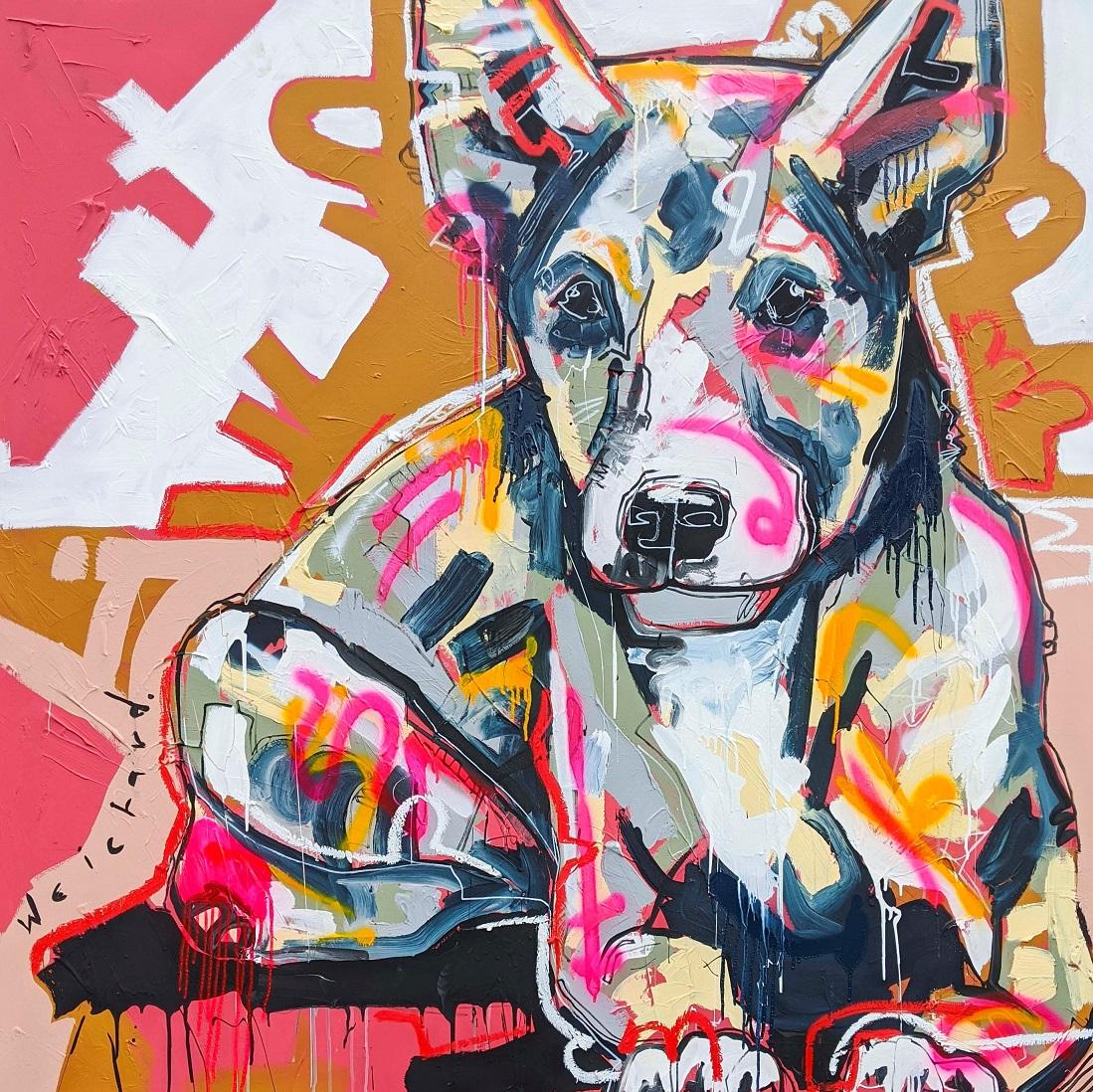 FRASERS K-9 - Aidan Weichard Art- Melbourne Artist- Original Painting - Australian Dog Dingo
