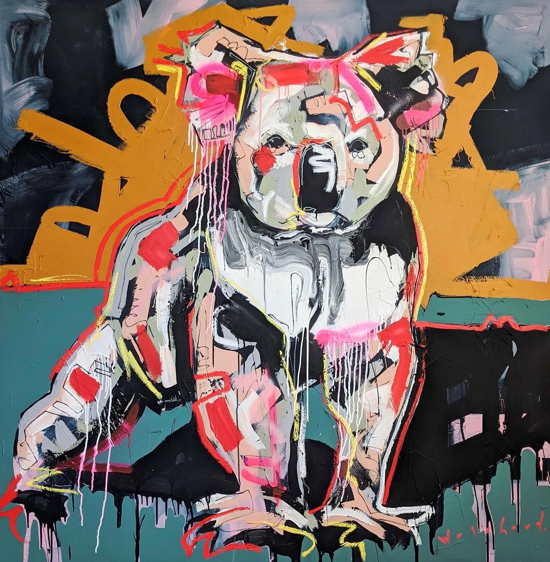 ISLAND SEEKEER - Aidan Weichard Art- Original Mixed Canvas Painting - Australian Wildlife Koala