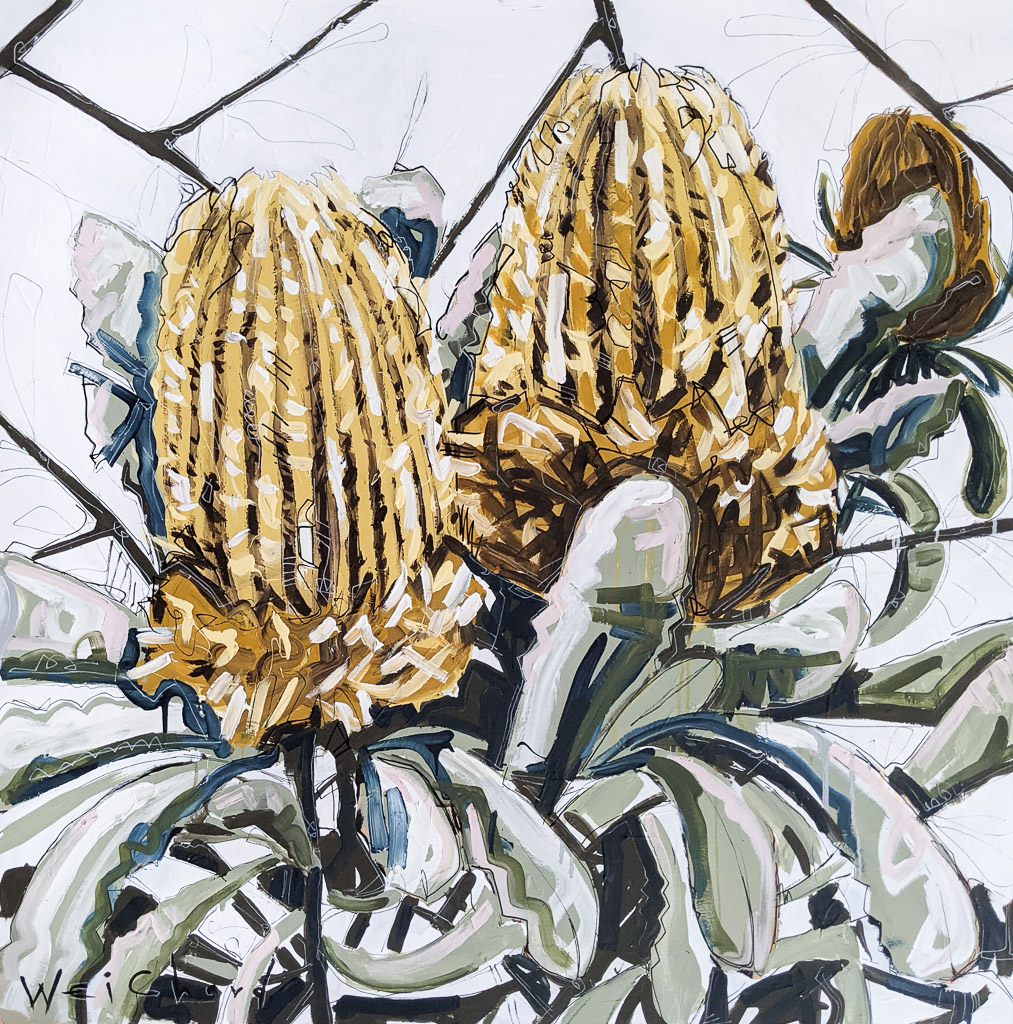 Banksia Bliss - Aidan Weichard Art- Original Painting - Australian Native Plant