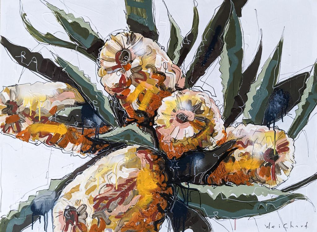 Banksia Bunch - Aidan Weichard Art- Original Painting - Australian Native Plants