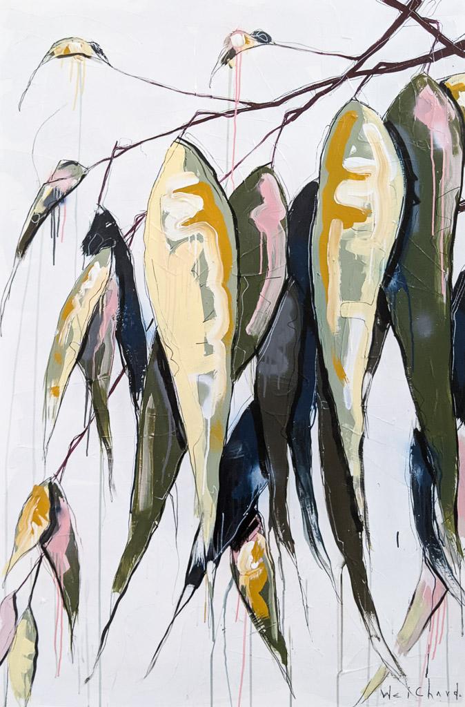 Leaves of Life 13 - Aidan Weichard Art- Original Painting - Australian Native Plant