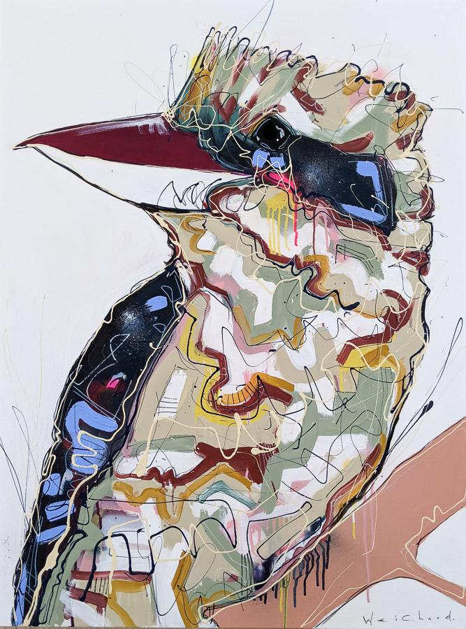 Winter Setter - Aidan Weichard Art- Original Painting - Kookaburra Bird
