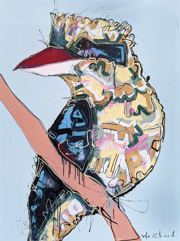 Only In Spring 2 - Aidan Weichard Art- Original Painting - Kookaburra Bird
