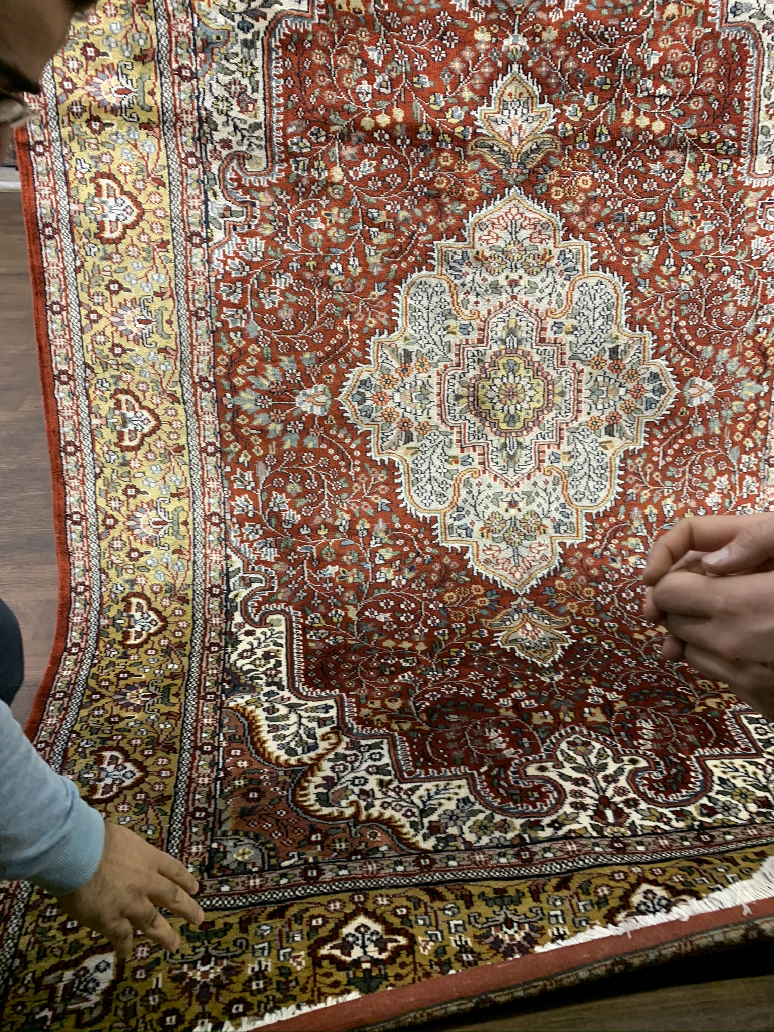 Hand made Kashmir carpet