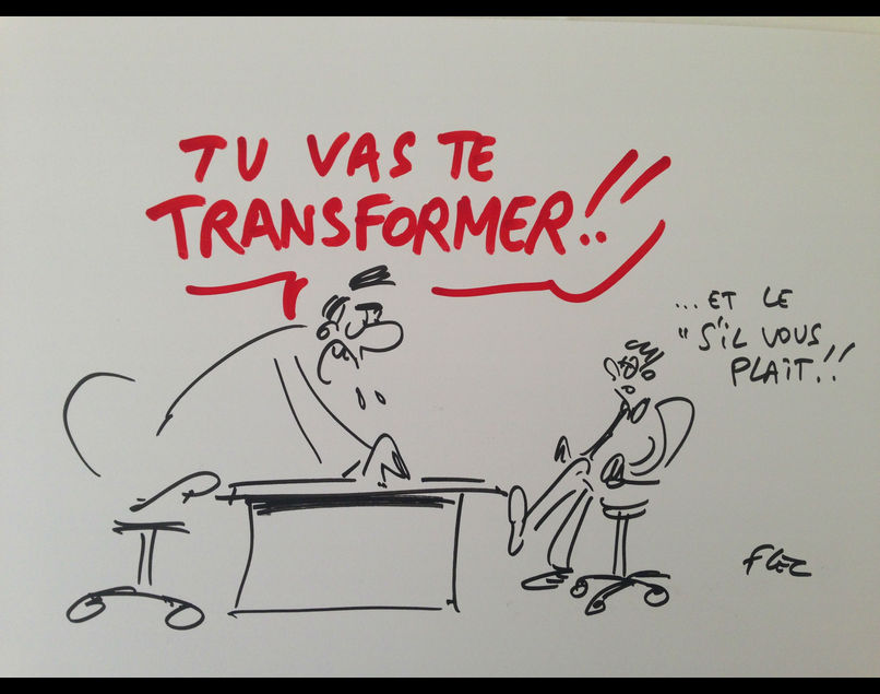 Les CDO, gros bras de la transformation digitale ? - CDO Day : quand le  dessinateur Flec croque la transformation digitale... :)