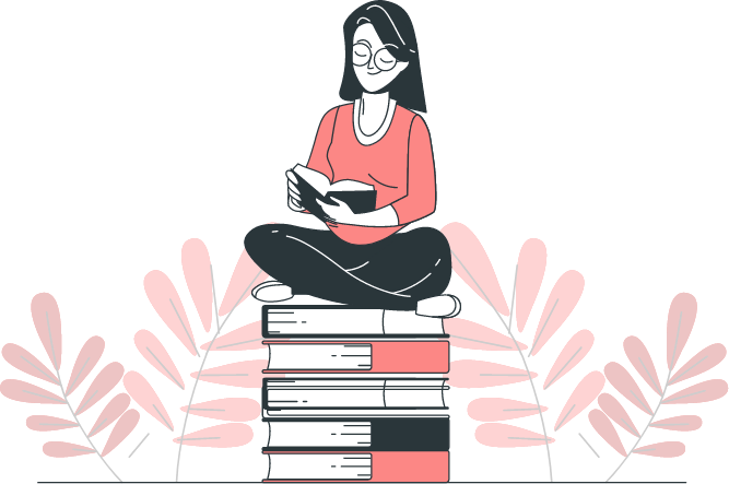 The Generation | Illustration of Young Woman Reading A Book