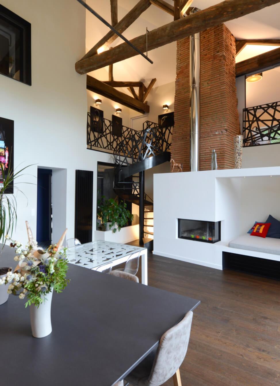 Photo d'un séjour dessiné par l'architecte Franck Duflo