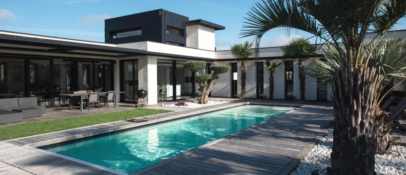 Photo villa avec terrasse dessinée par Franck Duflo