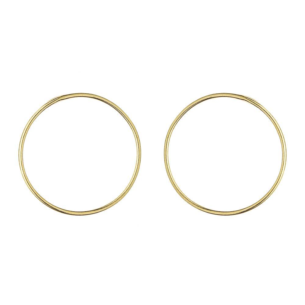 Boucles Large Circle Vermeil