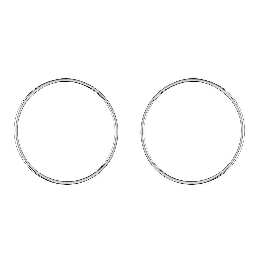 Boucles Large Circle Argent