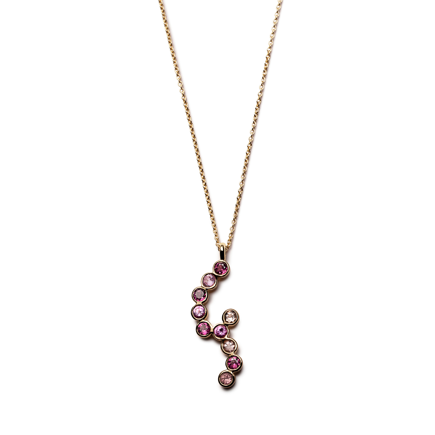Collier Dew Droplets Tourmalines Roses