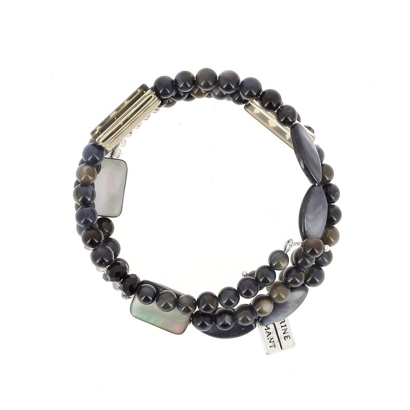 Bracelet Nacre Bleu nuit