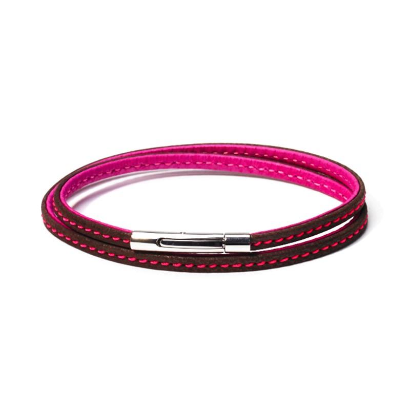Bracelet Colibri Marron Fushia