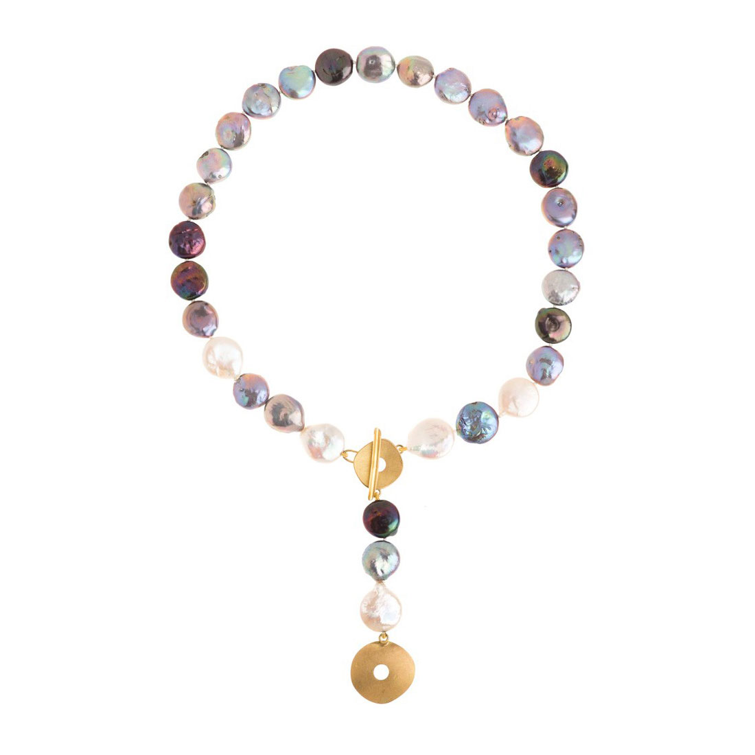 Collier Perles « Bouton »