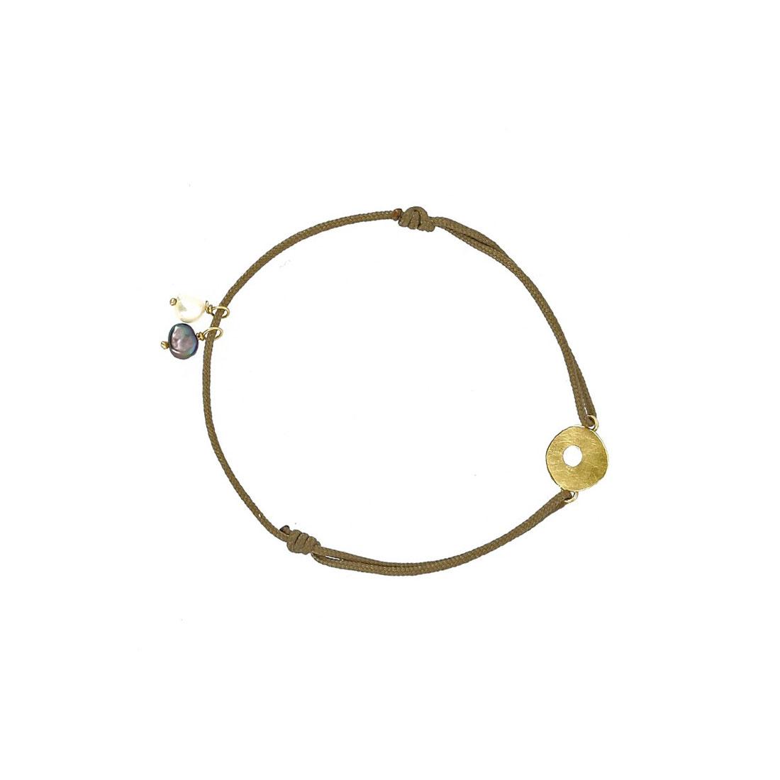 Bracelet Galet Or
