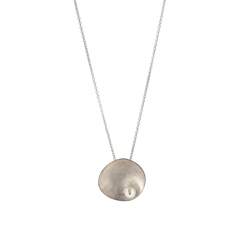 Collier Galet Perle Argent