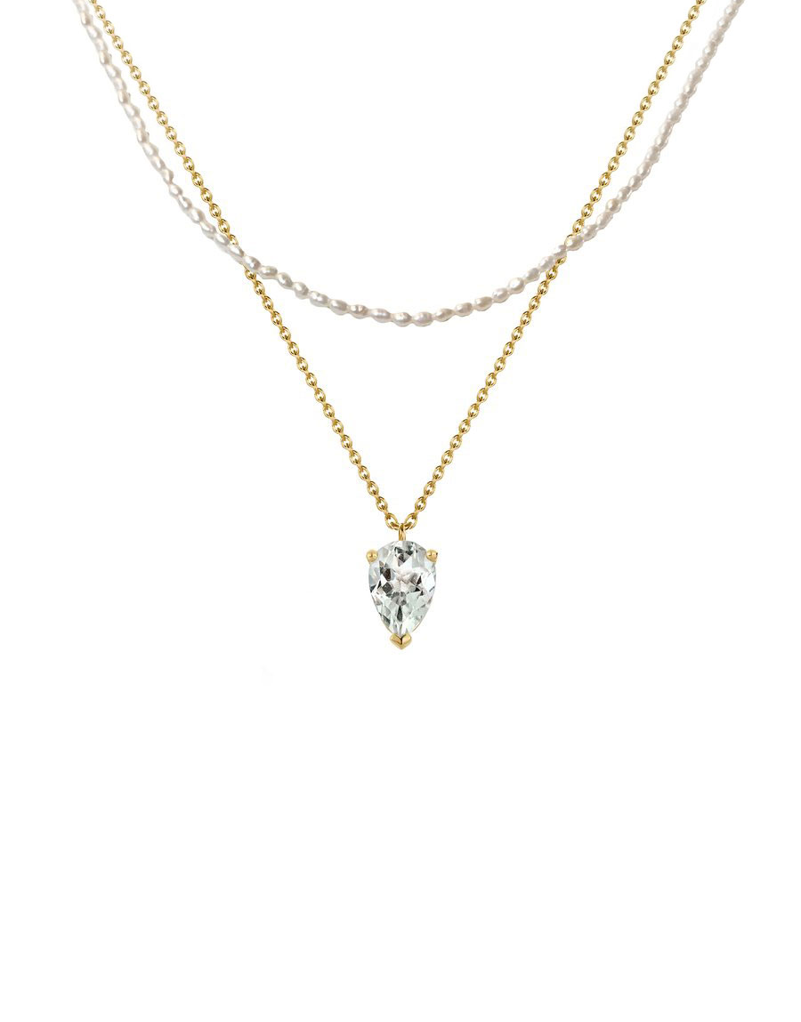 Collier Bloom Perles & Prasiolite