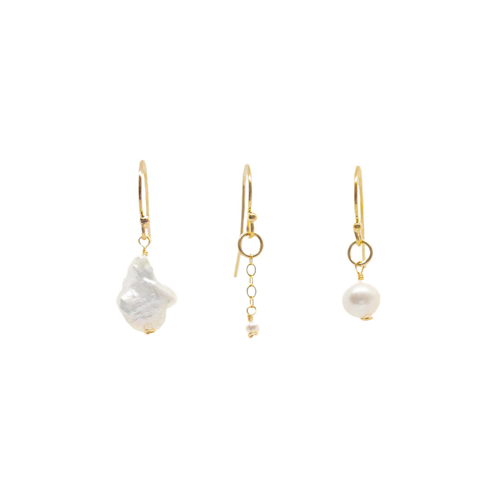 Boucles Trio Perles