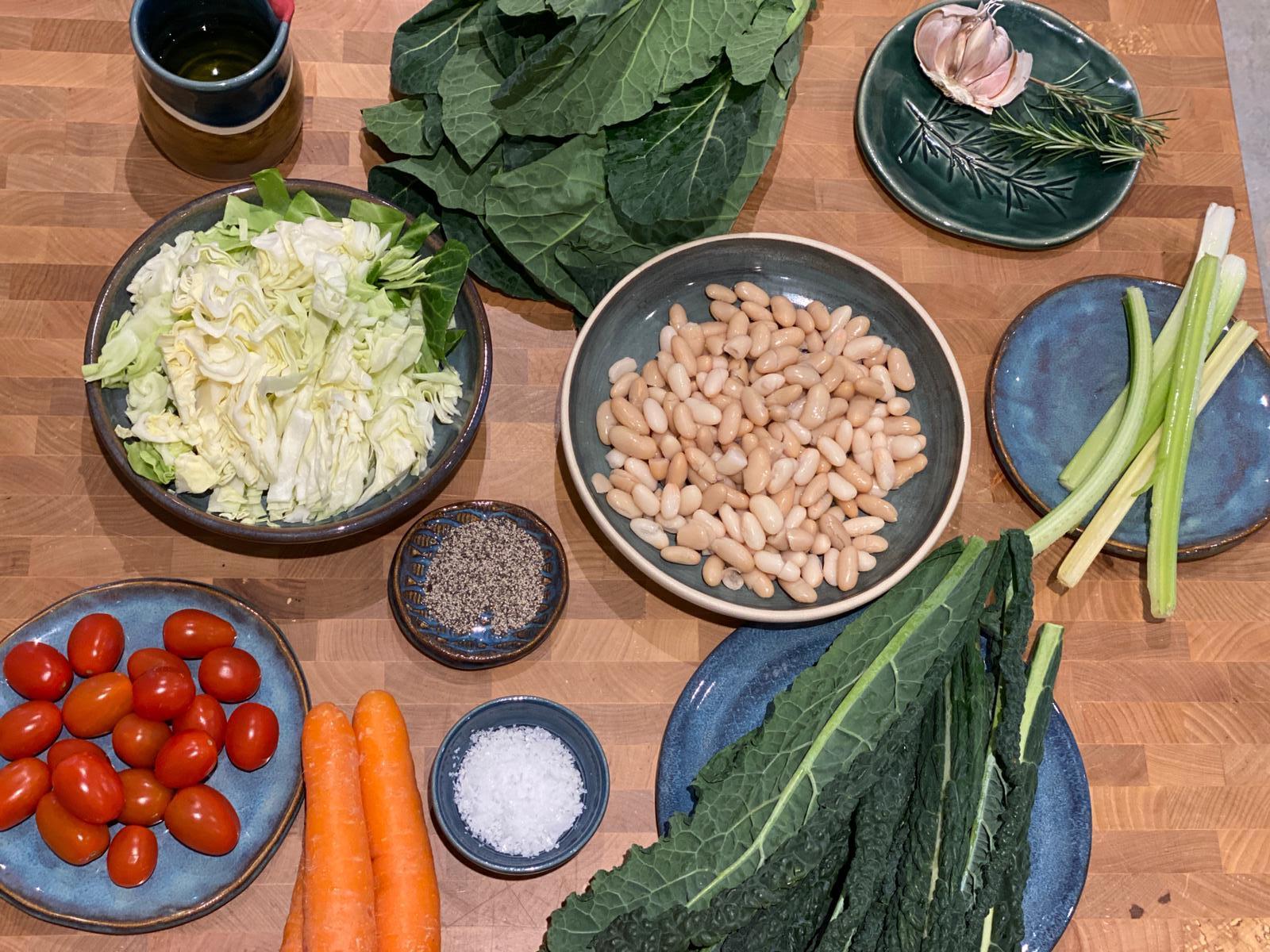 ingredients for ribollita