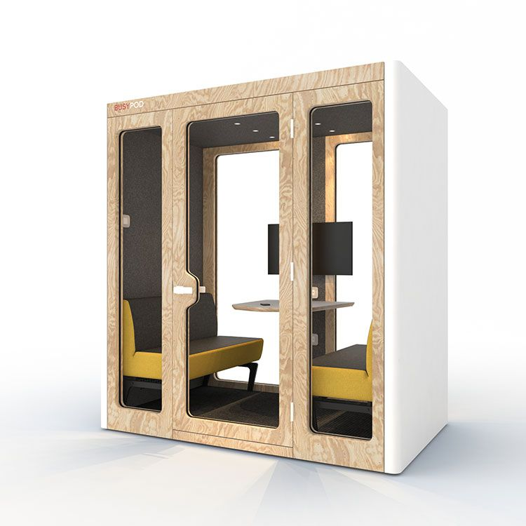 BUSYPOD Large, White sides, Pine frame