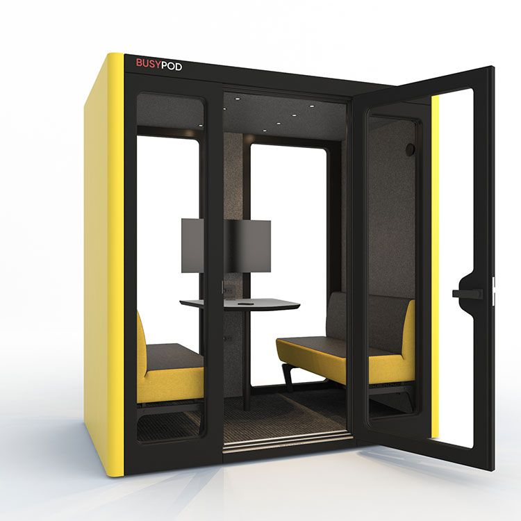 BUSYPOD Large, Yellow sides, Black Lacquer frame