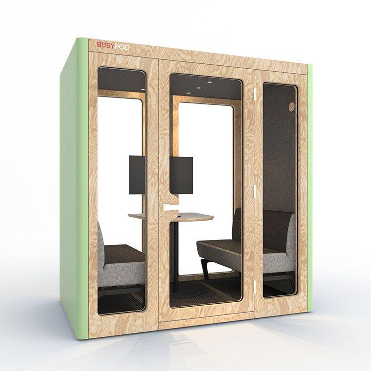 BUSYPOD Large, Green sides, Pine frame