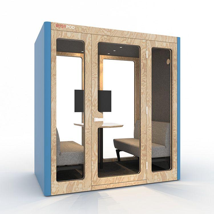 BUSYPOD Large, Blue sides, Pine frame
