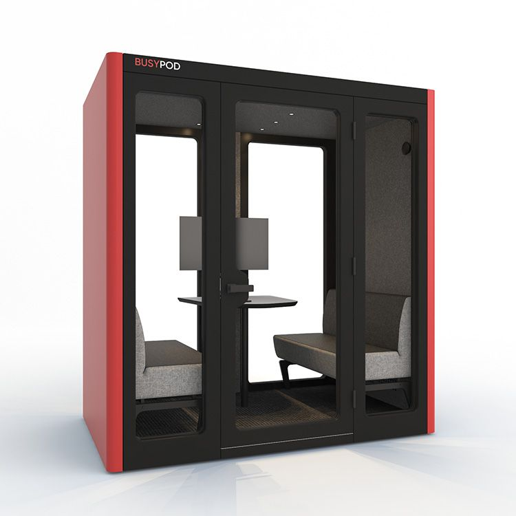 BUSYPOD Large, Red sides, Black Lacquer frame