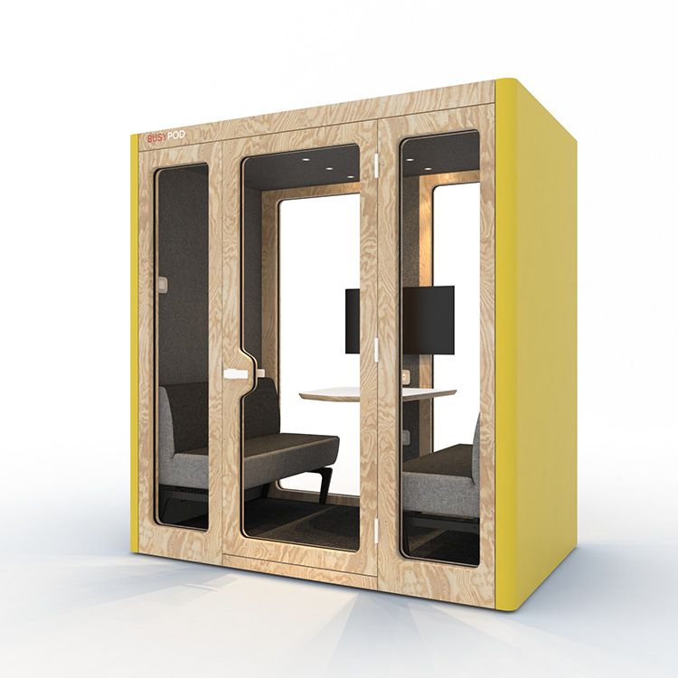 BUSYPOD Large, Yellow sides, Pine frame