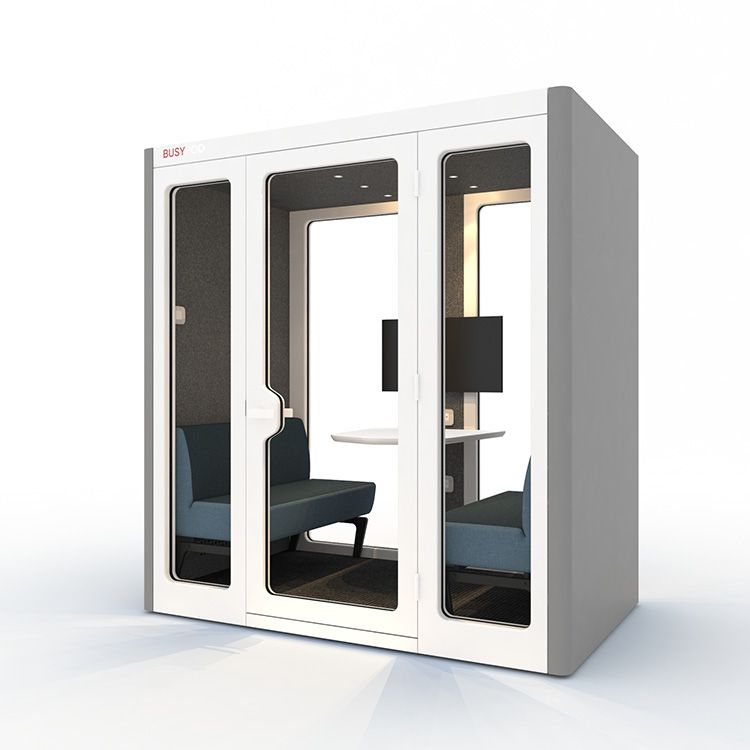 BUSYPOD Large, Gray sides, White Lacquer frame