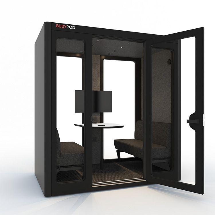 BUSYPOD Large, Black sides, Black Lacquer frame