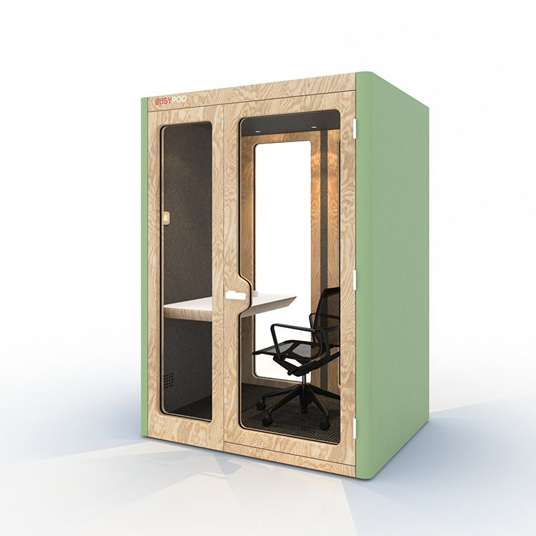 BUSYPOD Medium Work, Green sides, Pine frame