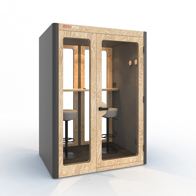 BUSYPOD Medium Meet, Grey sides, Oak frame