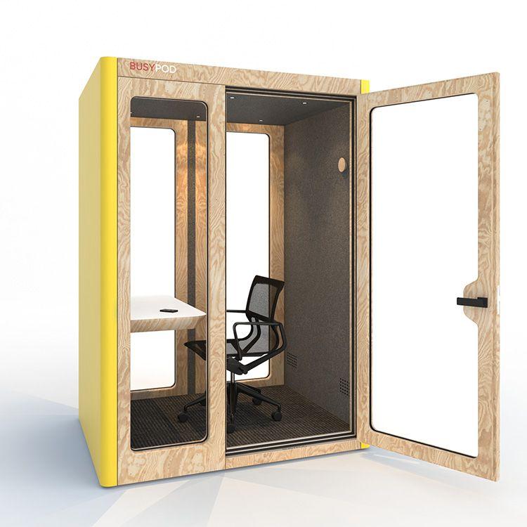 BUSYPOD Medium Work, Yellow sides, Pine frame