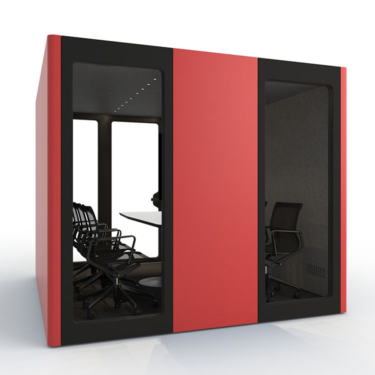 BUSYPOD XLarge, Red sides, Black Lacquer frame