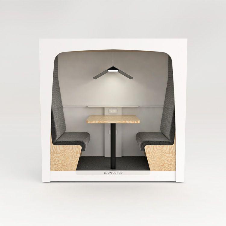 2 person BUSYLOUNGE, White sides, White Lacquer frame, Black seats