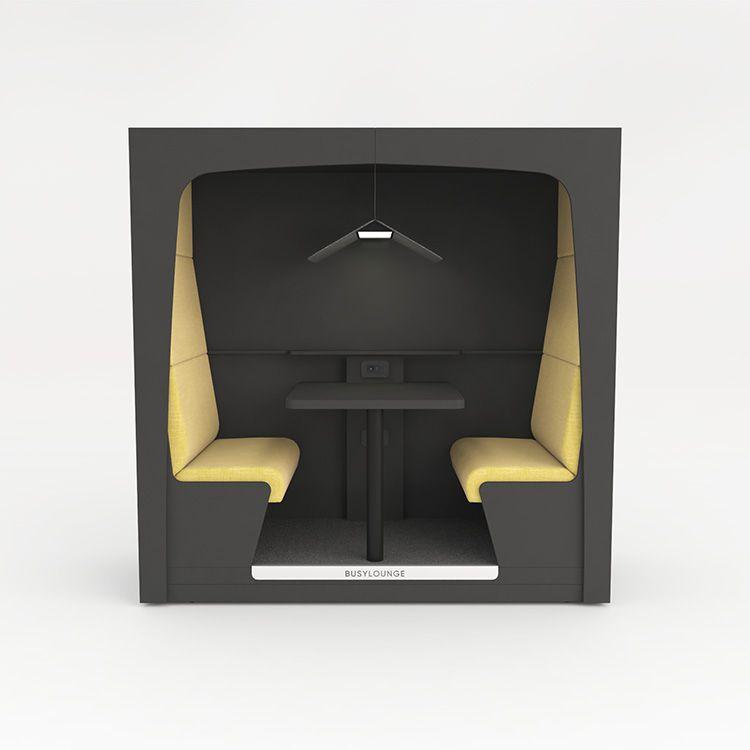 2 person BUSYLOUNGE, Dark Grey sides, Dark Grey Lacquer frame, Yellow seats