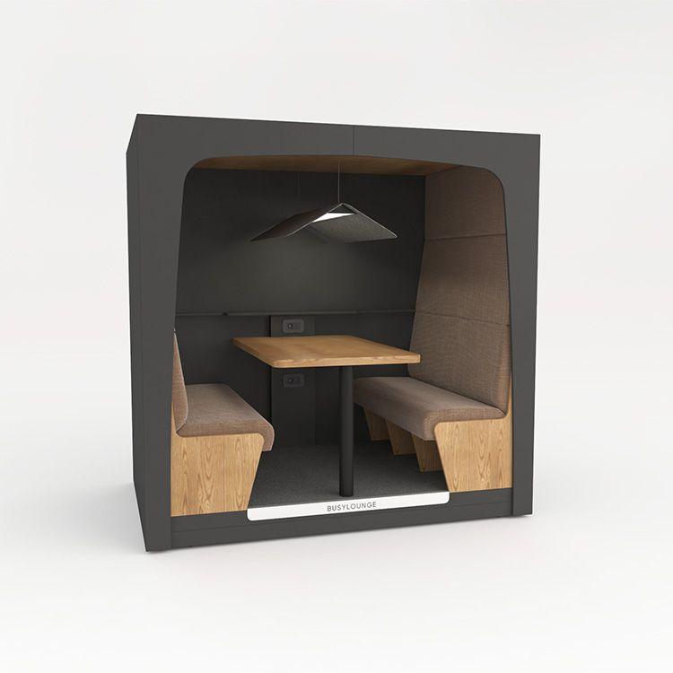 4 person BUSYLOUNGE, Dark Grey sides, Dark Grey Lacquer frame, Tan seats