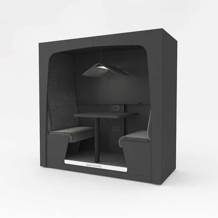 2 person BUSYLOUNGE, Black sides, Black Lacquer frame, Black seats