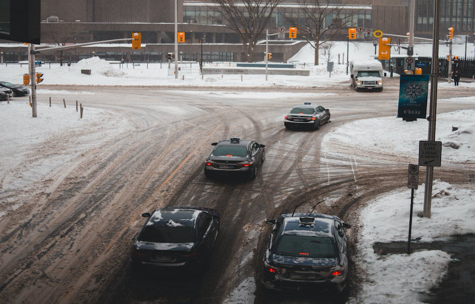 Winter weather condition for driving