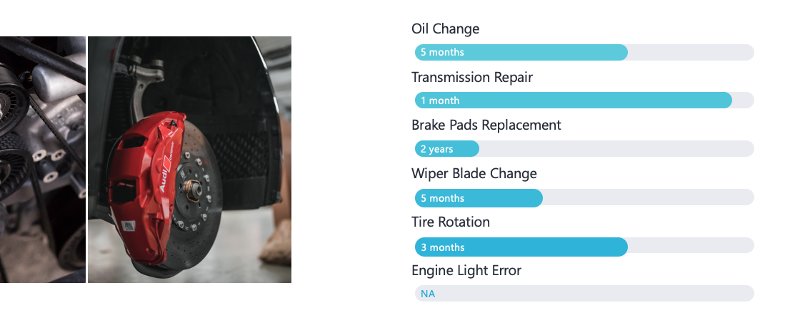 Tracking repair of your vehicle