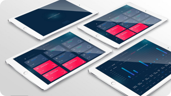Appify portfolio tablet screens