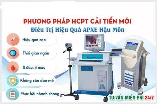 Phương pháp HCPT trong điều trị áp xe hậu môn
