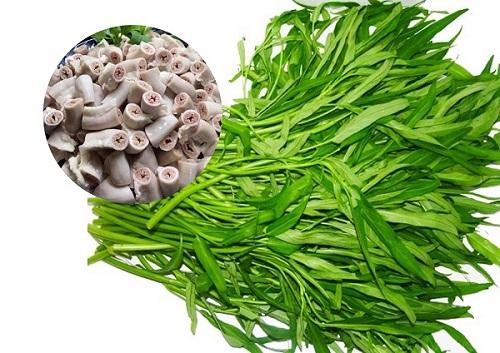 Món ăn từ rau muống để chữa trĩ